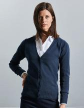 Ladies´V-Neck Knitted Cardigan