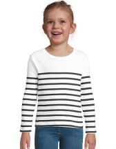 Kids´ Long Sleeve Striped T-Shirt Matelot