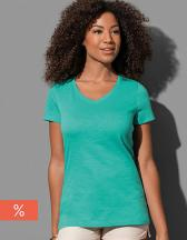 Sharon Slub V-Neck Women