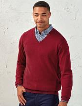 Men`s V-Neck Knitted Sweater