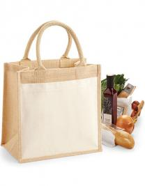 Cotton Pocket Jute Midi Bag