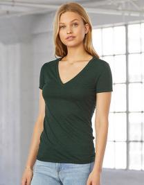 Women`s Triblend Deep V-Neck T-Shirt